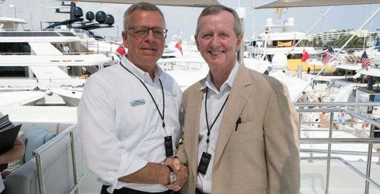 megayacht expert Bob Saxon and Chuck Cashman of MarineMax