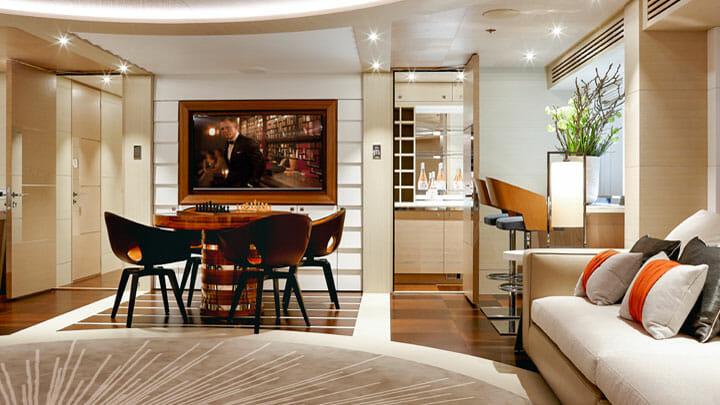 Heesen Yachts Book Ends megayacht interior