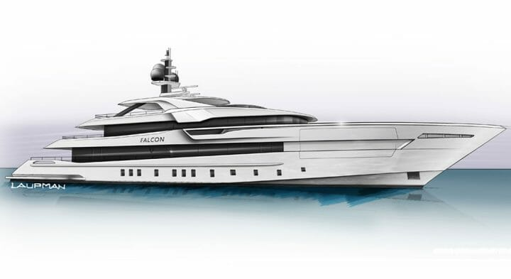 Heesen's Project Falcon is a large-volume megayacht