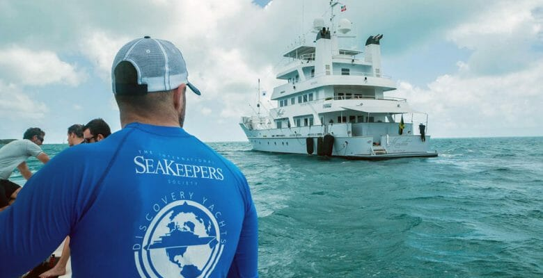 megayacht Marcato, led by Capt. Jason Halvorsen, participates in the International SeaKeepers Society Discovery Yachts program; another SeaKeepers donor is matching contributions to help the organization