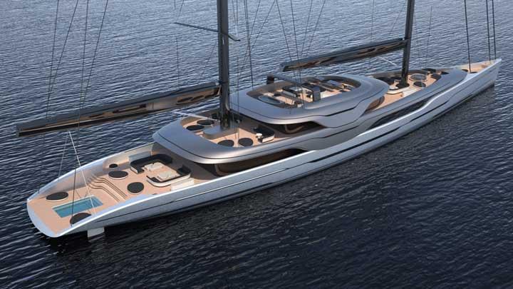 Ripple sailing superyacht
