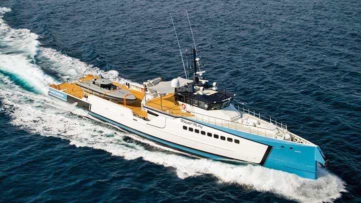 Damen Yacht Support Power Play is nominated for an International Superyacht Society Awards of Distinction