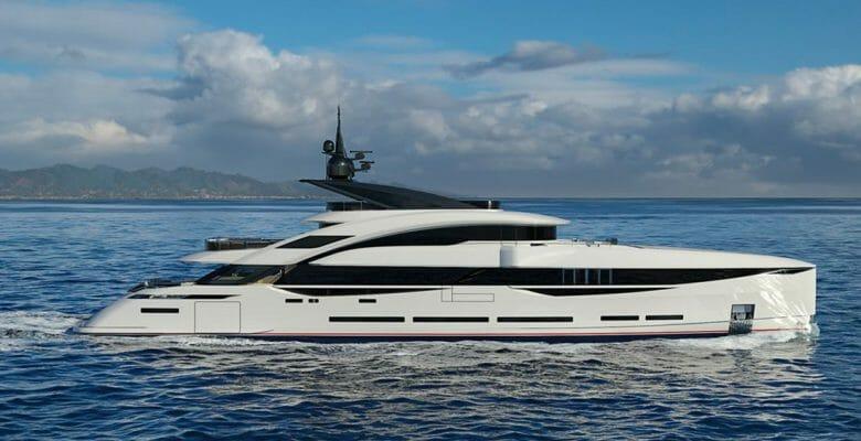 ISA Yachts artist rendering of ISA GT 45 megayacht