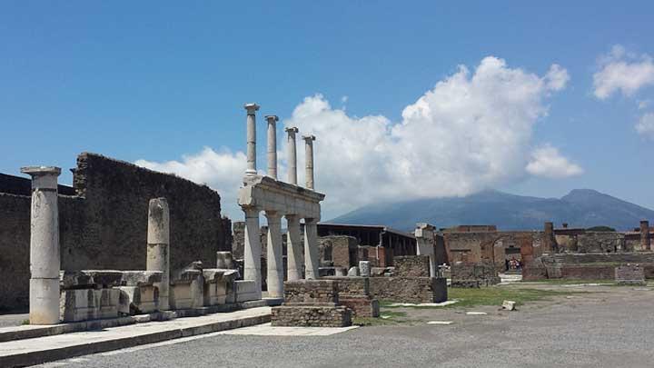 Pompeii off the Amalfi Coast for Marina d'Arechi megayacht feature