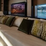 ISA Yachts megayacht Agora III lounge and TV