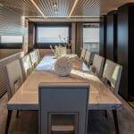 ISA Yachts megayacht Agora III dining room