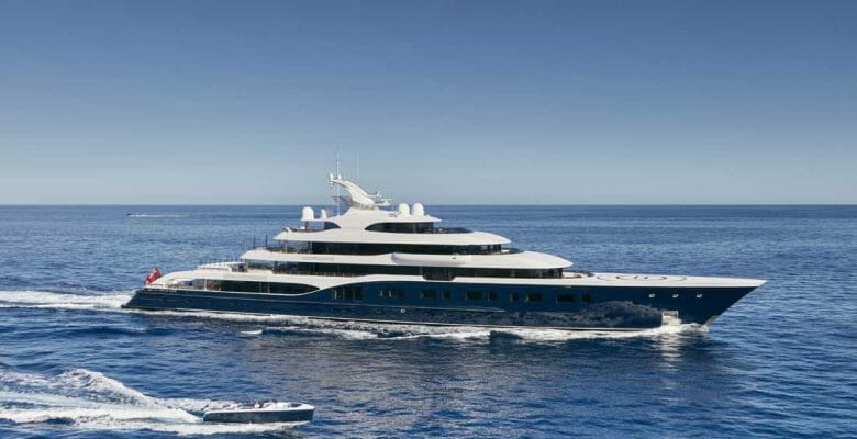 the Feadship Symphony is among the megayachts at the Monaco Grand Prix in 2019 and the The 7 Biggest Boats in St. Barths to Ring in 2020