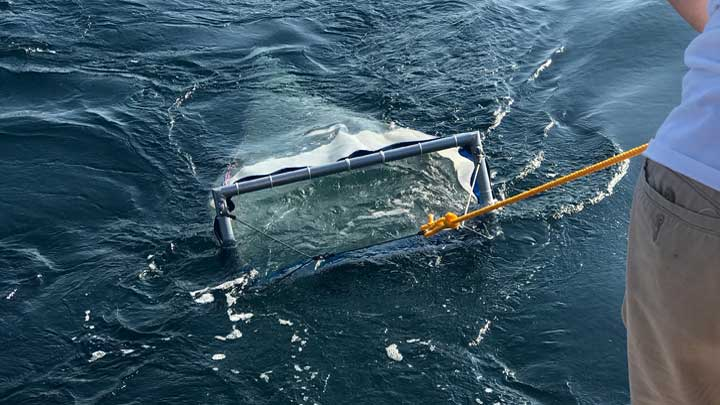 the superyacht Archimedes performed net tows as part of the International SeaKeepers Society S.A.R.A.H. initiative
