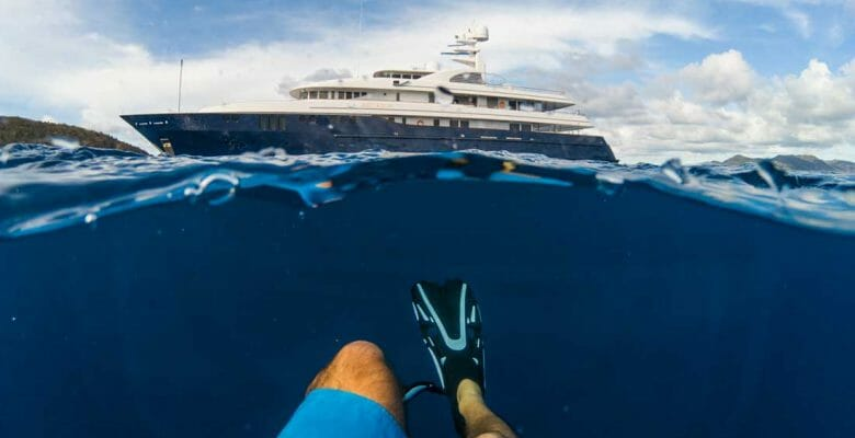 the superyacht Archimedes is assisting the International SeaKeepers Society with its S.A.R.A.H. plastics pollution initiative