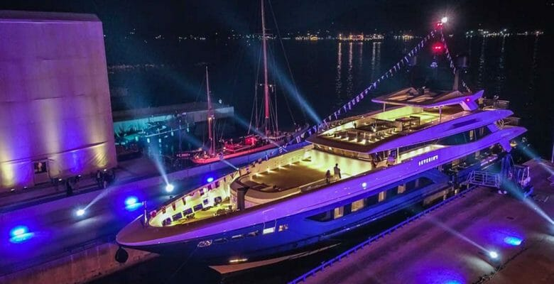 Severinºs launched from Baglietto and is among the megayachts to viist at the Monaco Yacht Show