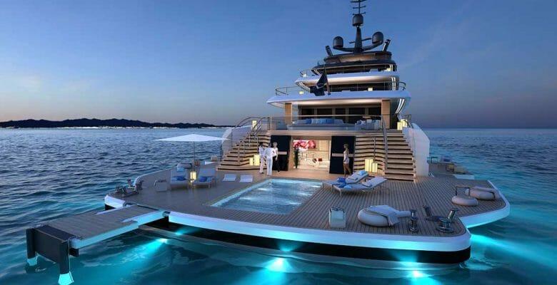 The Nauta 78M Slipstream is a superyacht concept from Nauta Design