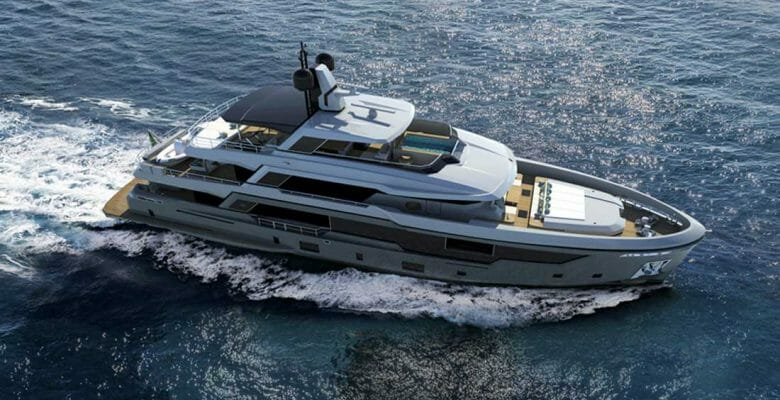 the Rosetti 38m EXP is an explorer superyacht