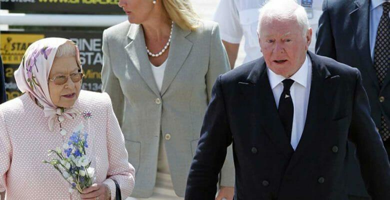 Sir Donald Gosling entertained Queen Elizabeth II aboard his superyacht Leander