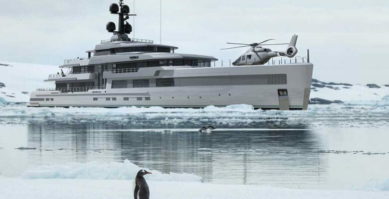 the Barracuda superyacht design comes from H2 Yacht Design and Turquoise Yachts
