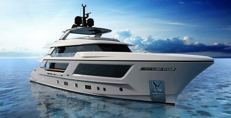 the MG115 explorer is a megayacht from Cantiere delle Marche and Francesco Paszkowski
