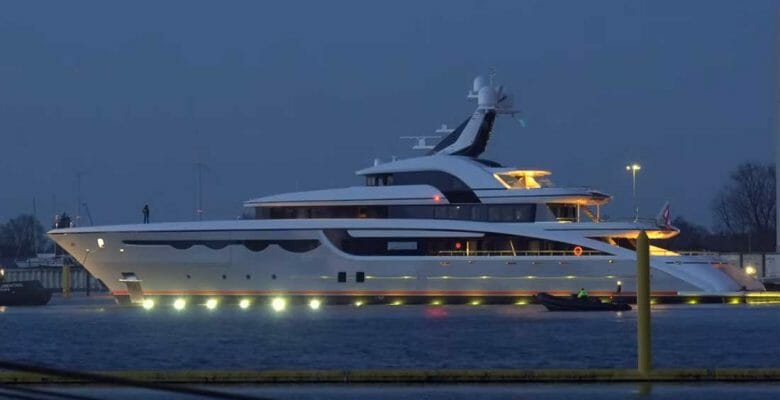 Abeking & Rasmussen launched the superyacht Soaring in January 2020; Soaring sea trials took place in March