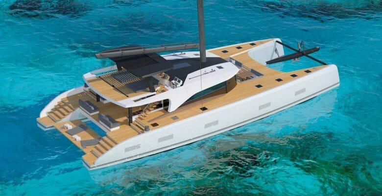 Southern Wind Shipyard's SWCAT90 sailing superyacht is a catamaran