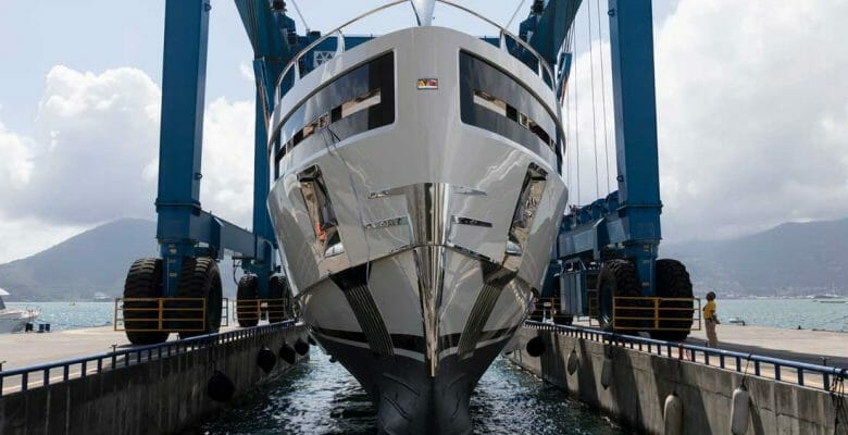 Baglietto Hull 10232, a.k.a. Club M, is a megayacht for American owners