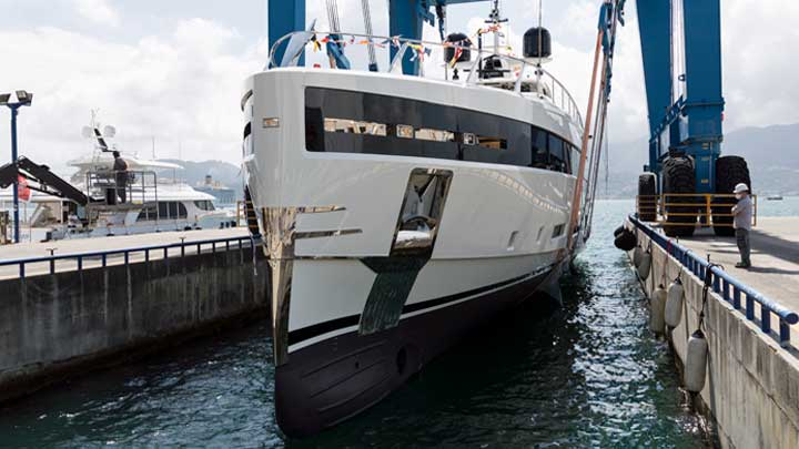 Baglietto Hull 10232 is a megayacht for an American owner