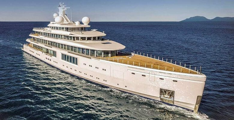 the superyacht Luminosity is for sale for $250 million and among the nine biggest yacht deliveries in 2020