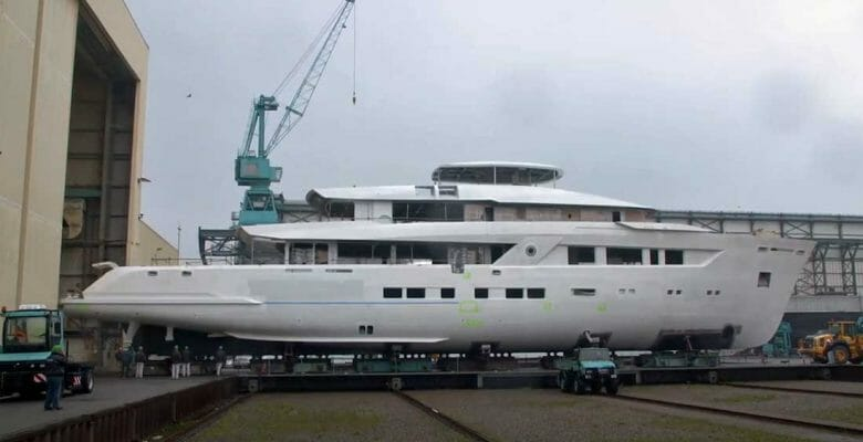 the making of Project 13800 at Lurssen is also known as the superyacht Project Moon Sand