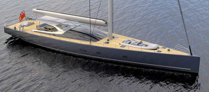 The MM38 sailing superyacht will be built by Baltic Yachts