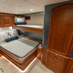 one of five staterooms aboard Jarrett Bay Boatworks' Hull 60