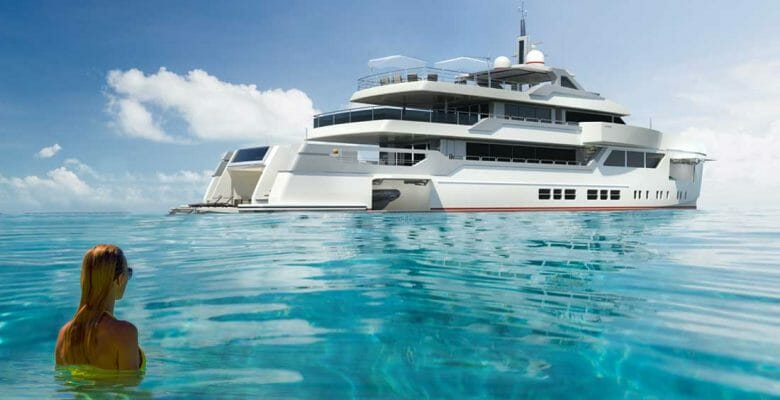 the Lovesong megayacht concept compresses big-yacht features into a 45-meter