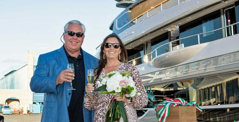 Tim Ciasulli and his wife Rebeca are the owners of the Benetti Oasis 40M megayacht Rebeca