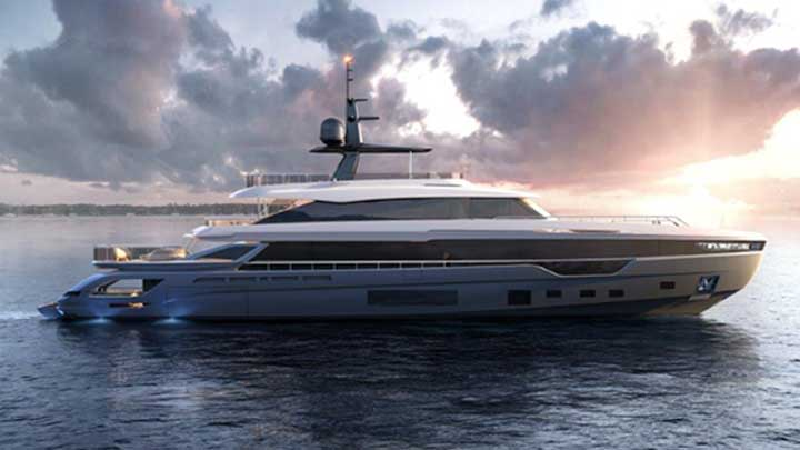the Azimut Grande Trideck is the largest megayacht from Azimut and its first trideck