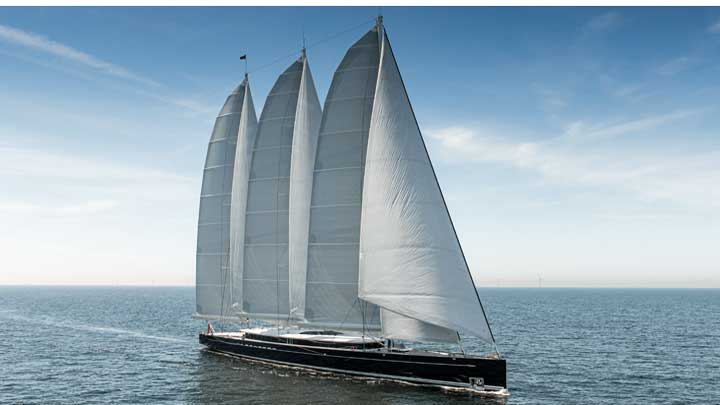 the sailing superyacht Sea Eagle II is among the nine biggest yacht deliveries of 2020