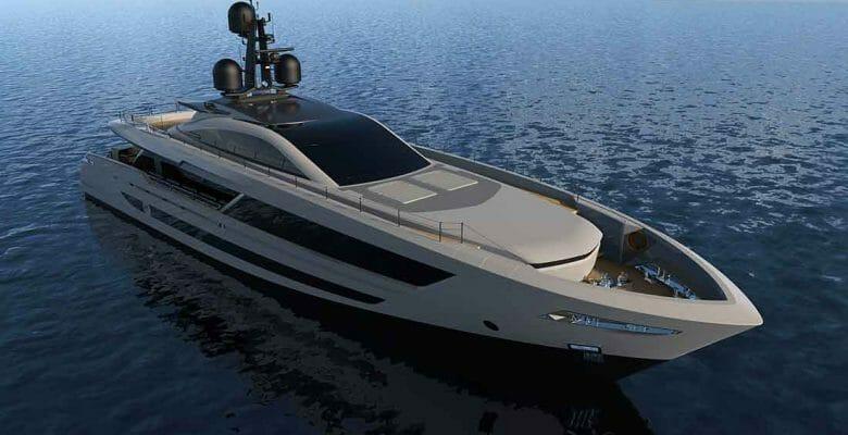 the Baglietto megayacht hull 10236 a.k.a. Baglietto Superfast 42