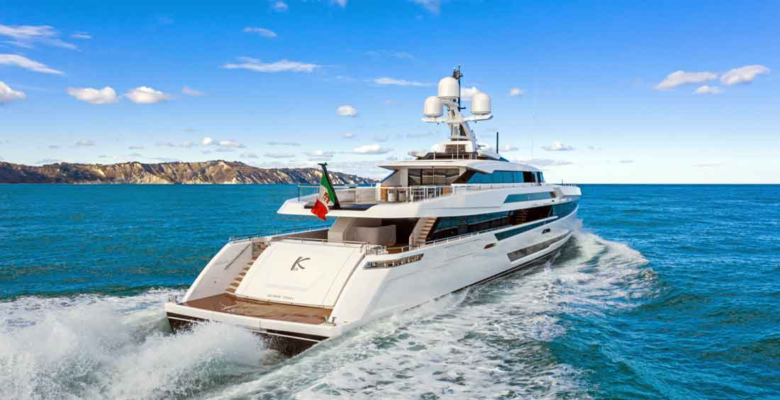 the K2 yacht is a Columbus Sport 50M megayacht