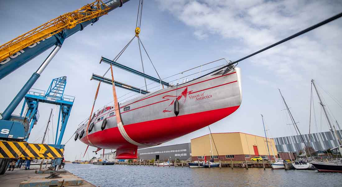 Vinson of Antarctica is a small sailing superyacht