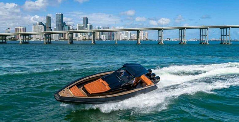 Technohull's Omega 47 megayacht tender is fast