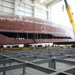 hull number one of the Bering B107 megayacht