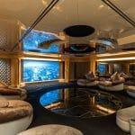 a look inside Lady Moura reveals a superyacht cinema