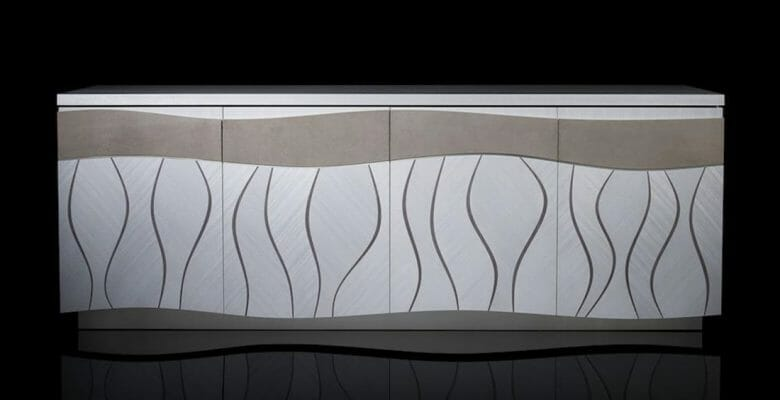 the Ocean Boulevard custom cabinet is by superyacht specialist Silverlining Furniture
