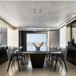 the Sanlorenzo 62 Steel Cloud 9 has an elegant superyacht interior