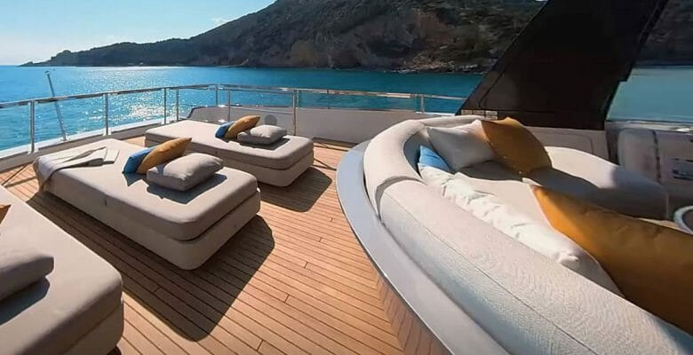 the Azimut Grande Trideck is the newest megayacht for Azimut Yachts