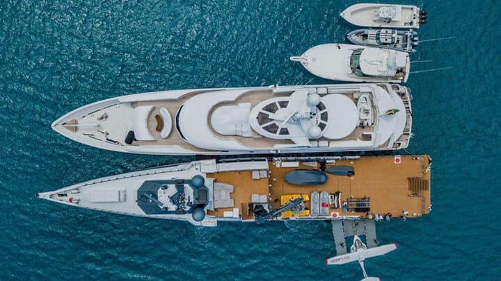 Carl Allen and Gigi Allen enjoy a fleet of yachts and superyachts