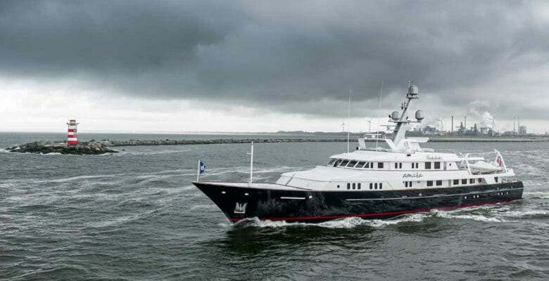 the 35-year-old Amara was launched as the megayacht Cacique