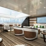 the Majesty 175 megayacht has a luxurious design
