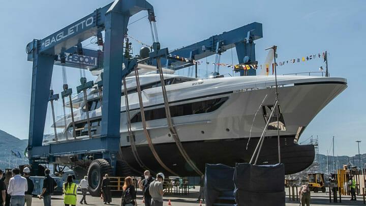 the Baglietto Lion joined the 48m T-Line megayacht series