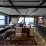 the amazing spaces aboard Aurelia include this superyacht include a casually elegant interior