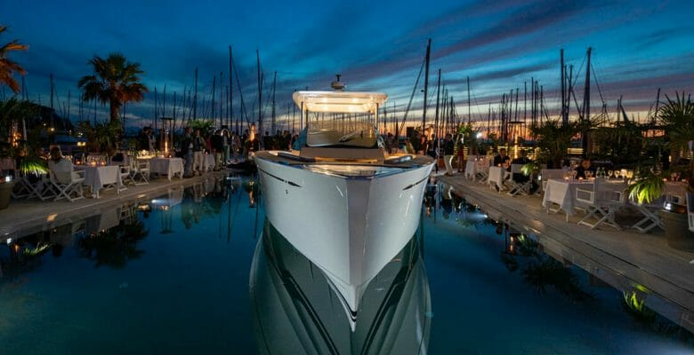 the Swan Shadow premiere was in Sardinia, for yacht and superyacht customers of Nautor's Swan