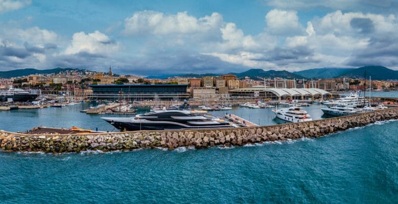 Genoa's Waterfront Marina caters to some of the largest superyachts