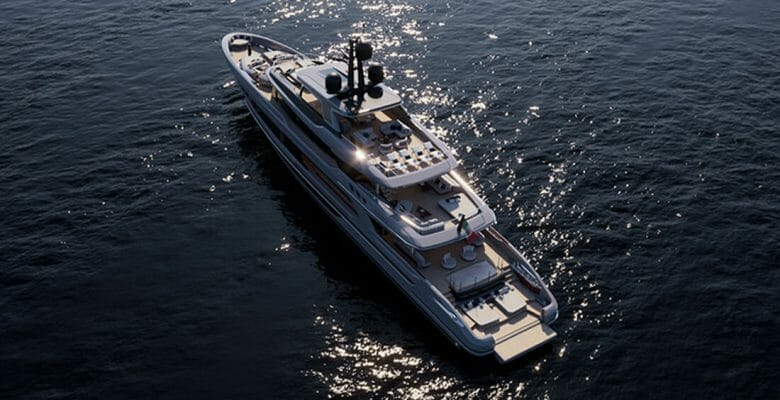 the Baglietto T52 superyacht features styling by Francesco Paszkowski