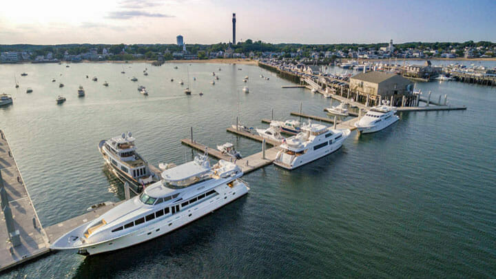 Provincetown Marina is a good stop by superyacht in the Bay State