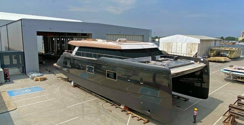 the first 100 Sunreef Power megayacht catamaran